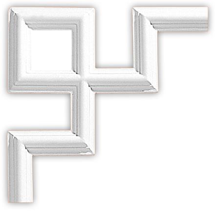 Угол декоративный Decomaster 97010-9 (размер 300х300х18)