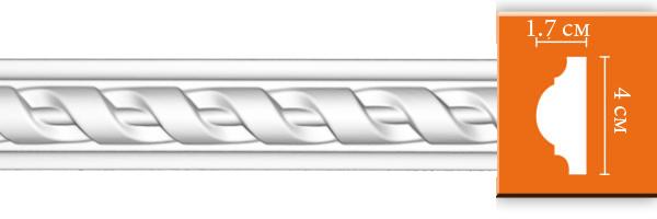 Молдинг с орнаментом Decomaster DT 8050 (размер 40х17х2400)