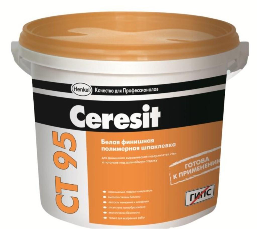 Ceresit CT 95 готовая белая финишная шпаклевка, 25кг