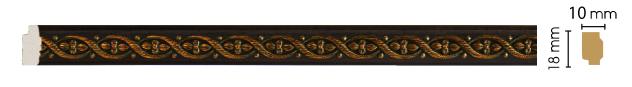 Цветной молдинг Decomaster 158-1 (размер 18х10х2400)