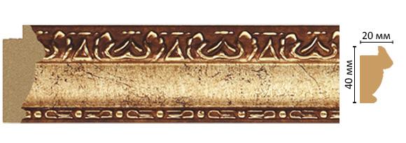 Decomaster Багет Decomaster 807-552 (размер 40х20х2900) decomaster багет decomaster 808 552 размер 61х26х2900мм