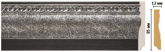 Цветной напольный плинтус Decomaster 153-44 (размер 95х12х2400)