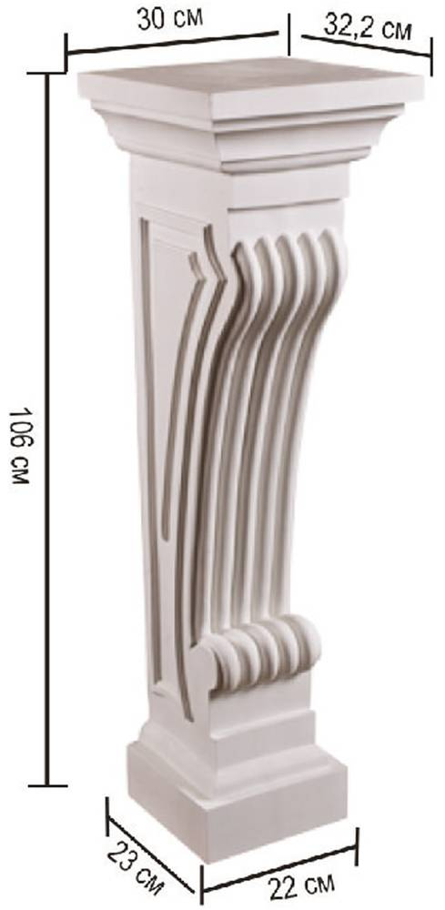 Пьедестал камина Decomaster 68687 (размер 1060х300х322)