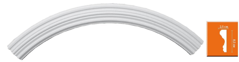 Радиус [1/4 круга] Decomaster 897902-120 (Rнар.70, Rвн 60см)