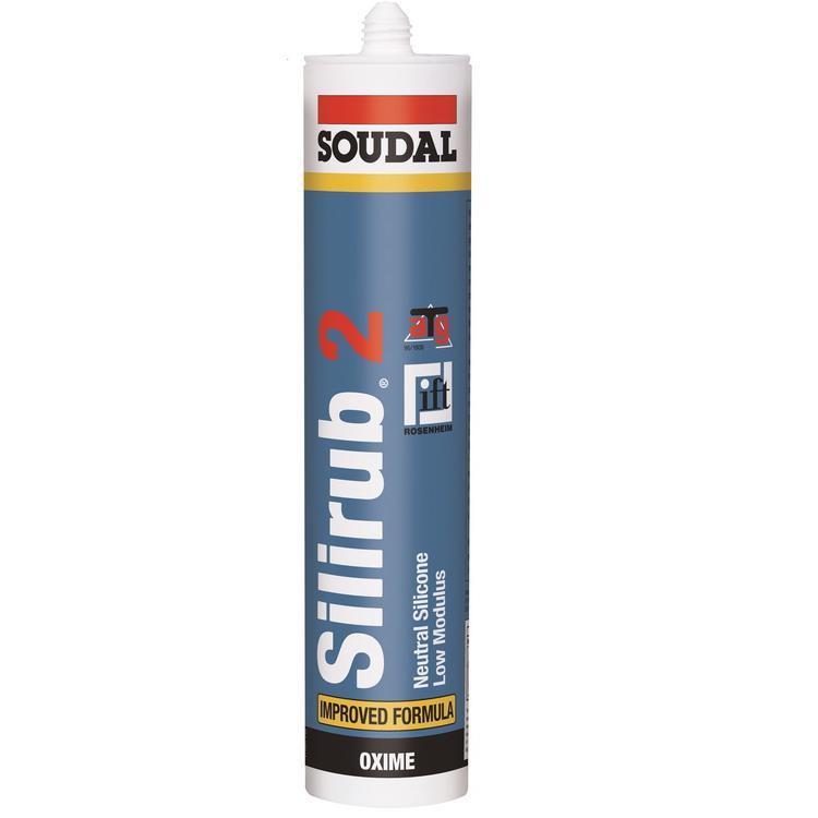 Герметик силиконовый Soudal Silirub 2 нейтральный бесцветный 310 мл