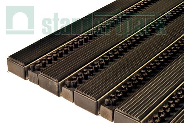 Придверная решетка Сити (Щетка Риф + Резина), 400х600