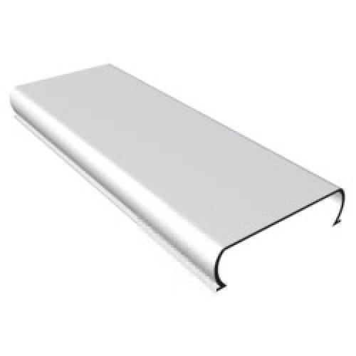Рейка потолочная без вставки 100х4000мм жемчужный металлик