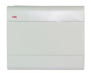 Бокс ABB настенный 12м с дв. белый 2442
