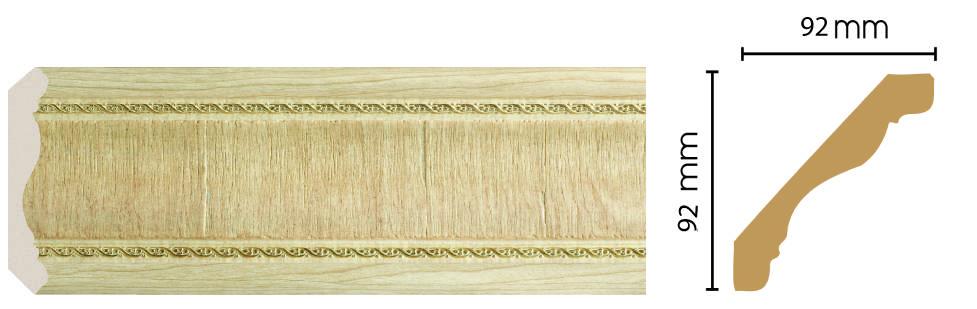 Цветной плинтус Decomaster 171-5 (размер 92х92х2400)