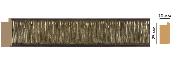 Багет Decomaster 102-52 (размер 25х10х2400)