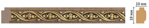 Багет Decomaster 158-4 (размер 18х10х2400)