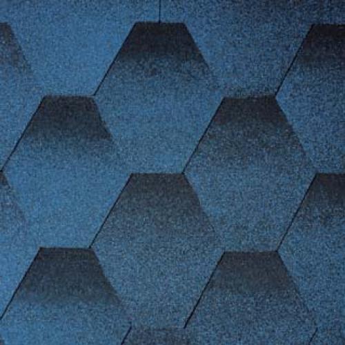 Гибкая черепица Tegola Нордик Синий (1м2)