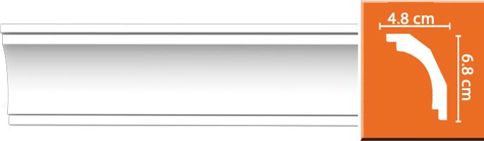 Плинтус гладкий Decomaster DP 16 (размер 68х48х2400)
