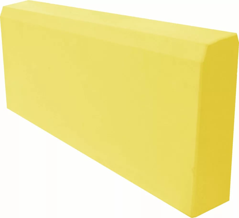 Бордюр садовый желтый, разм. 500х200х80мм
