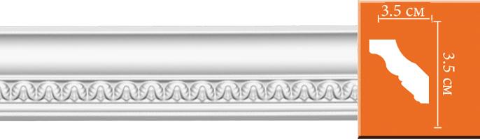 Плинтус с орнаментом Decomaster 95348 (размер 35х35х2400)