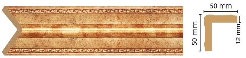 Уголок Decomaster 142-552 (размер 50х50х2400)
