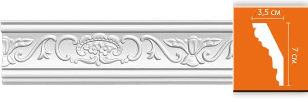Плинтус с орнаментом Decomaster DT 9 (размер 70х35х2400)