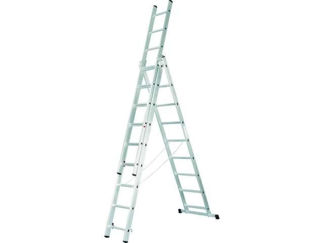 Лестница 3-х секционная 3х13 (3.7м/6.6м/9.4м)