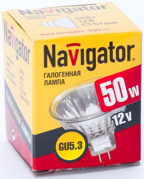 Лампа галогенная  NH-MR16-50-12-GU5.3 (50 Вт, 12 В)
