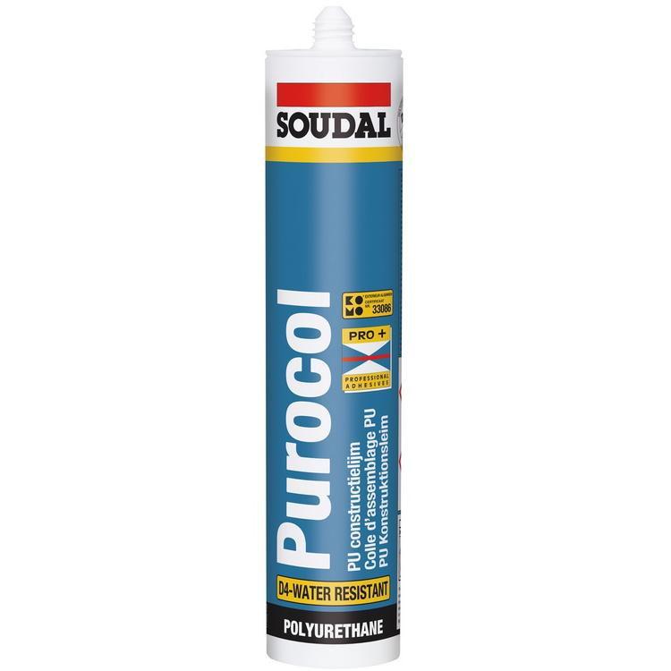 Клей полиуретановый Soudal Purocol конструкционный 310 мл