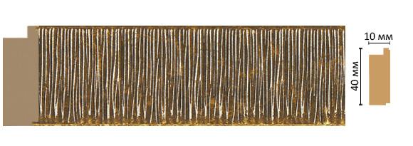 Decomaster Багет Decomaster 109-17 (размер 40х10х2400) decomaster багет decomaster 808 552 размер 61х26х2900мм