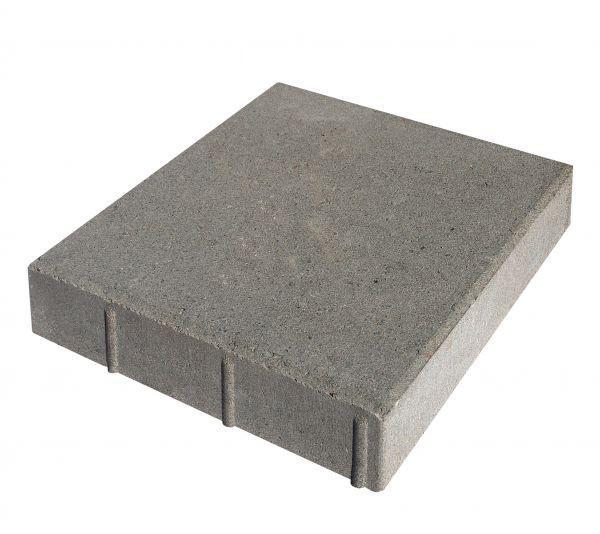 Тротуарная плитка Квадрат серый 400x400x60мм