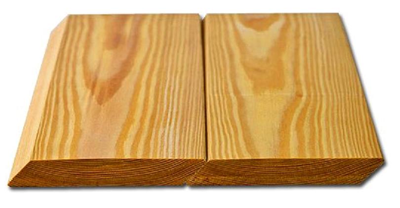 Планкен скошенный лиственница 20х115х3000 сорт А (1шт)