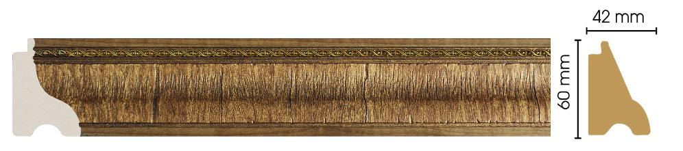 Цветной плинтус напольный Decomaster 175-3 (60х42х2900)