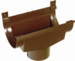 Воронка расширительная водосточной системы, коричневая