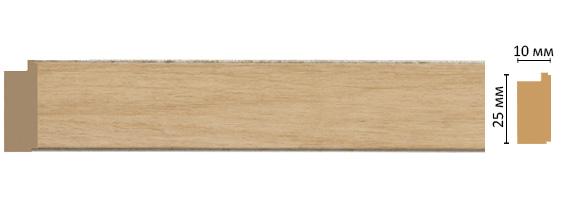 Багет Decomaster  102-11 (размер 25х10х2400)