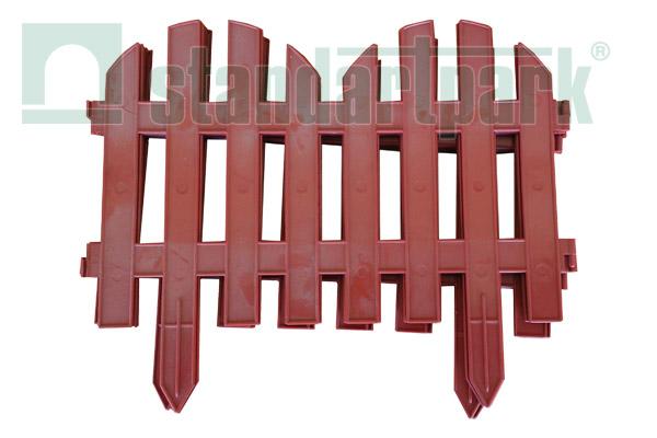 Забор декоративный №2 ЗД-3000.280-ПП пластиковый  терракотовый 8302-Т