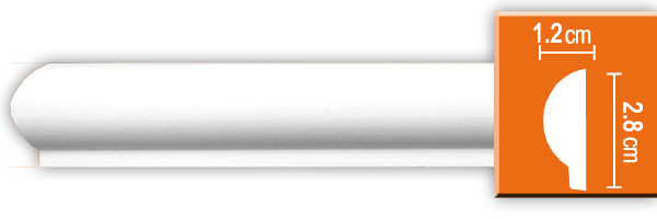 Молдинг гладкий Decomaster 97101 гибкий (размер 28х12х2400)