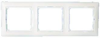 Рамка Lezard 3-я горизонтальная белая