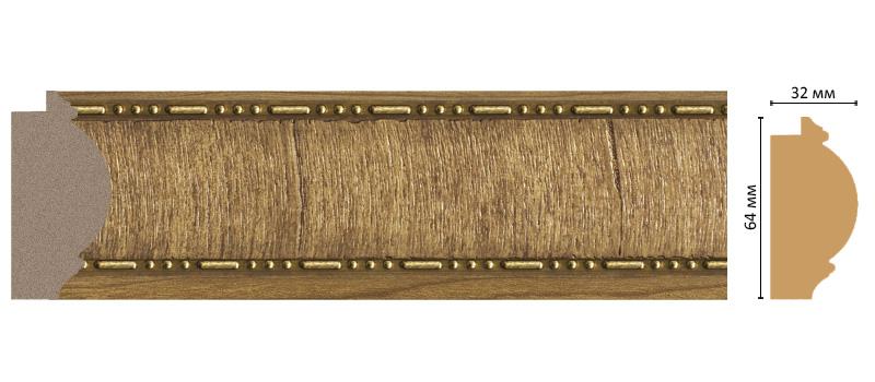Багет Decomaster 176-4 (размер 64х32х2900)
