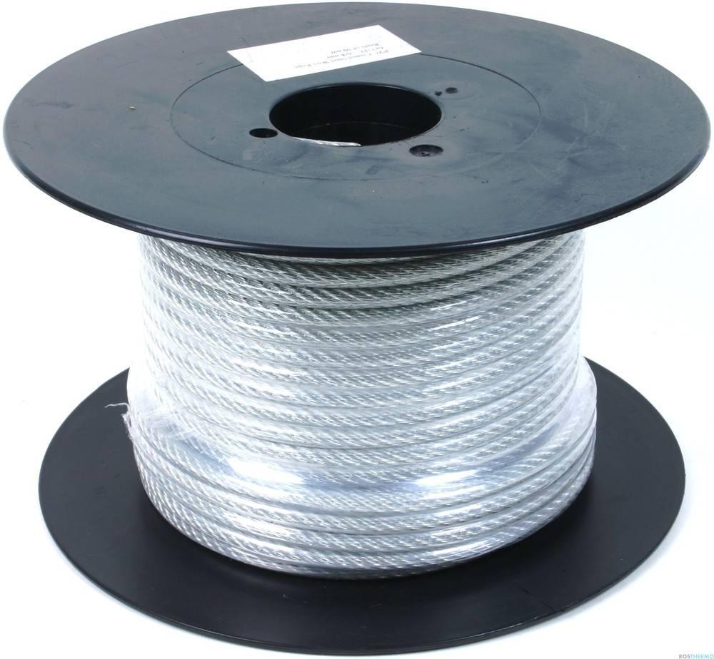 Трос стальной в оплетке ПВХ DIN 3055 5/6мм