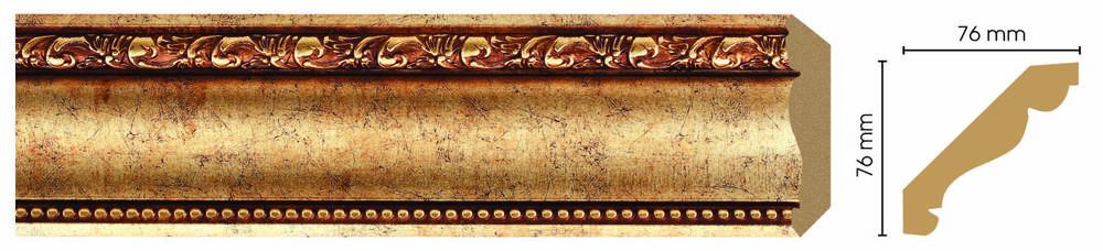 Потолочный плинтус (карниз) Decomaster 154-552 (размер 76х76х2400)
