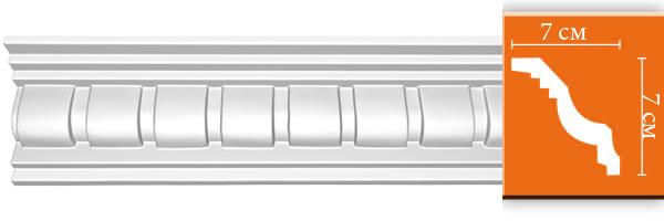 Плинтус с орнаментом Decomaster 95345 (размер 70х70х2400)