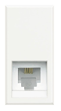 BT Axolute White Розетка телефон RJ11 3 кат. 2 мод (HD4258C11D)