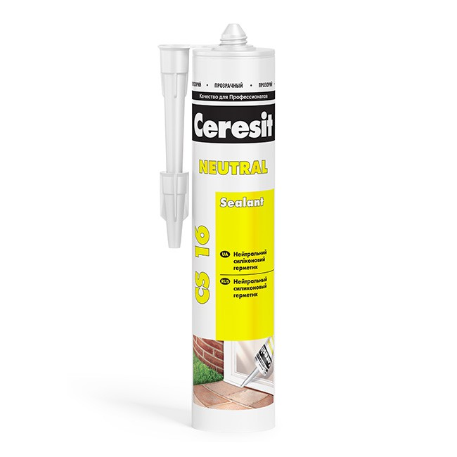 Герметик силиконовый Ceresit CS 16 нейтральный прозрачный