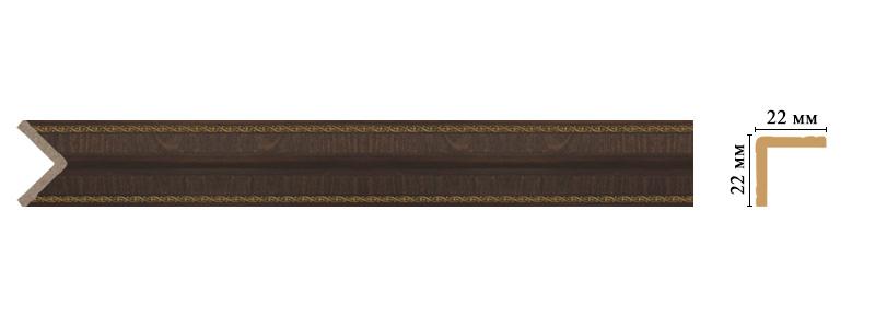Цветной угол Decomaster 116M-1 (размер 22х22х2400)