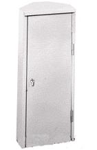 Шкаф для огнетушителя ШПО-106УЗБ угловой, закрытый, белый