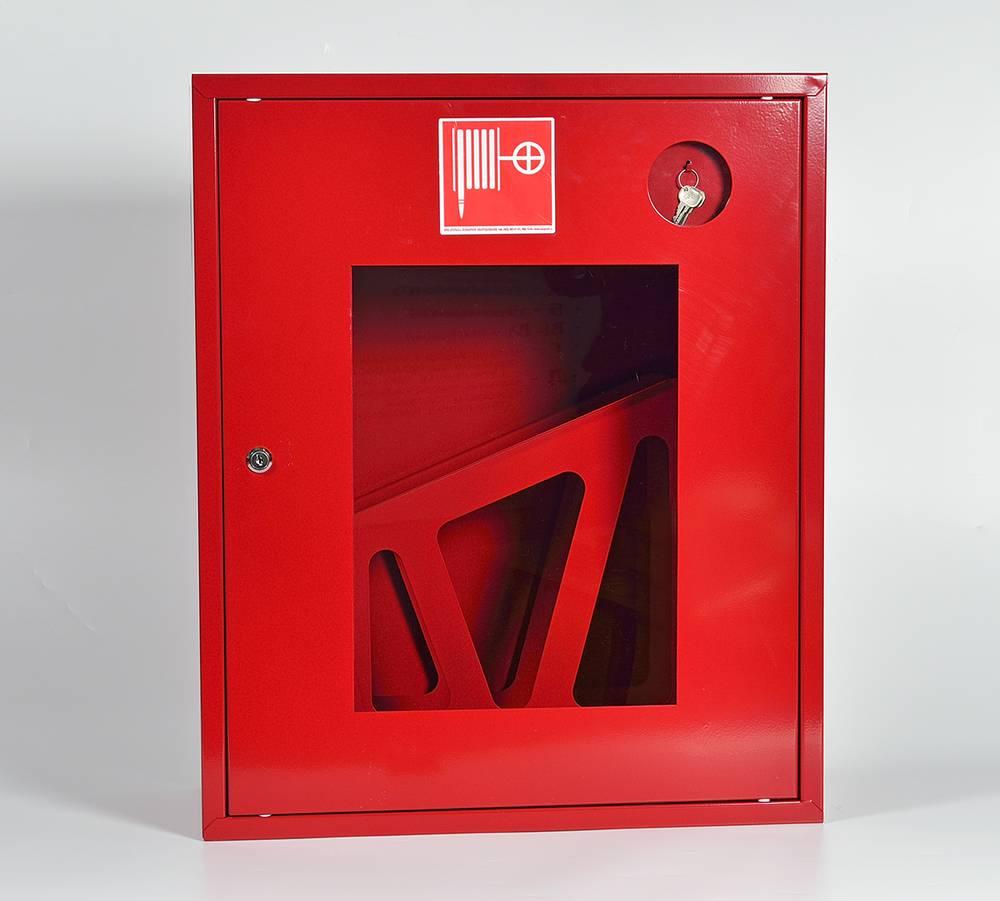 Шкаф пожарный ШПК-310НОК навесной открытый красный
