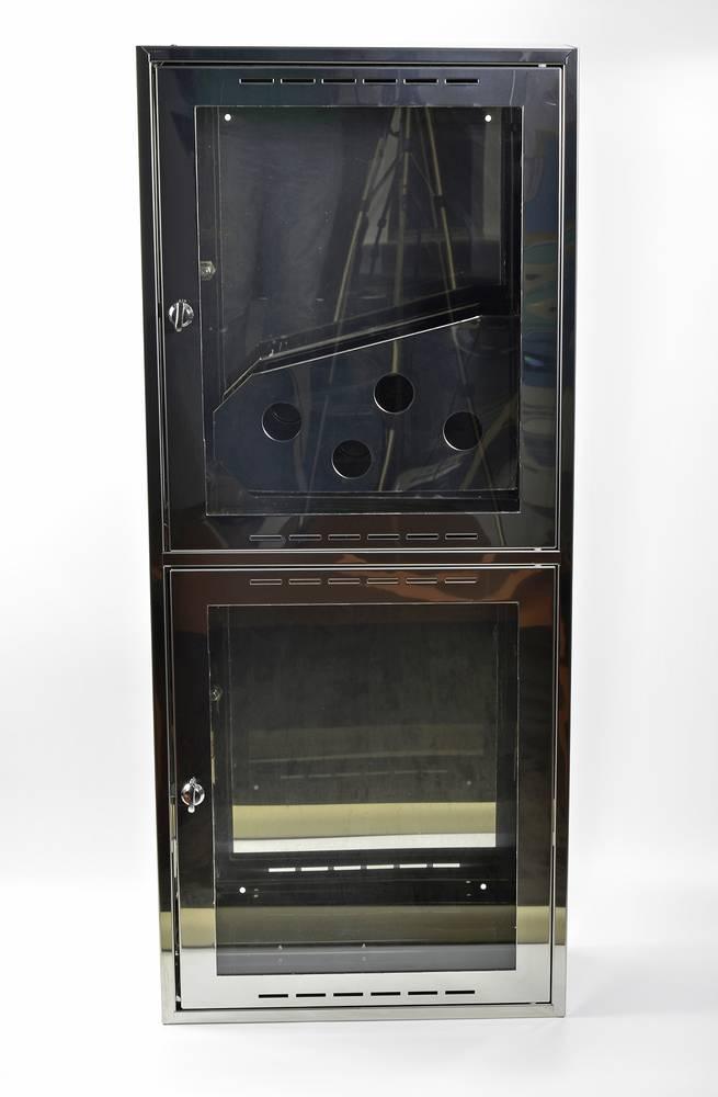 Шкаф пожарный из зеркальной нержавейки Престиж-03-НО [ШПК-320] навесной открытый