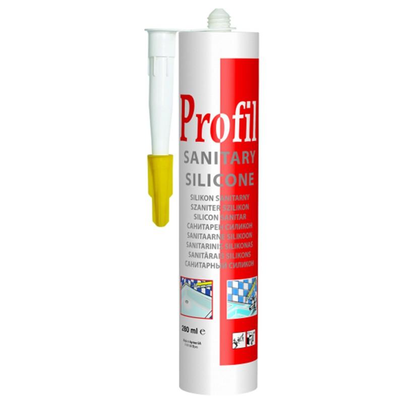 Герметик Соудал Profil силикон санитарный бесцветный 280 мл