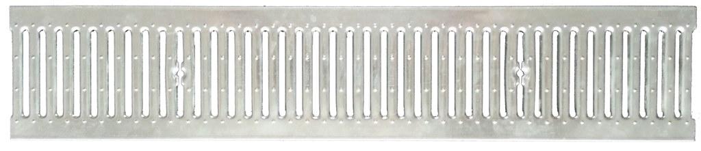 Решетка стальная штампованая DN150, 1м (на лоток водоотводный)