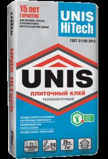 Юнис (UNIS) Hi Tech технологичный плиточный клей, 25кг