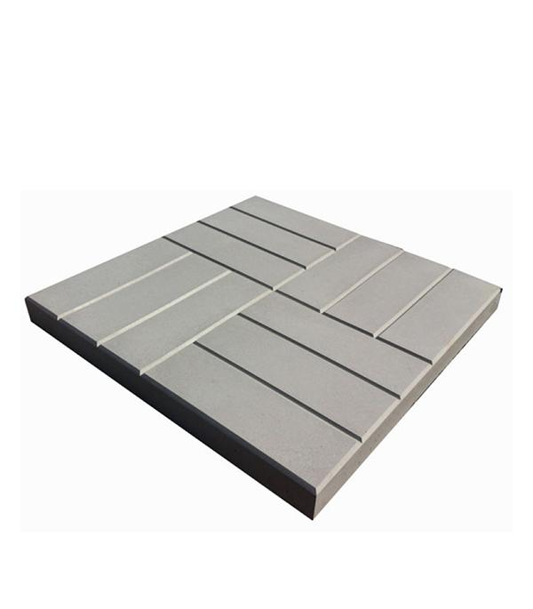 Тротуарная плитка 12 кирпичей белый