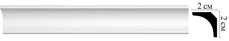 Плинтус потолочный Decomaster D133 (20х20х2000мм)