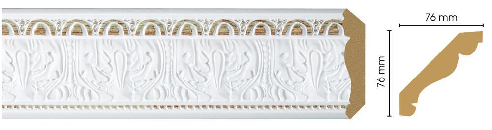 Потолочный плинтус (карниз) Decomaster 154-115 (размер 76х76х2400)