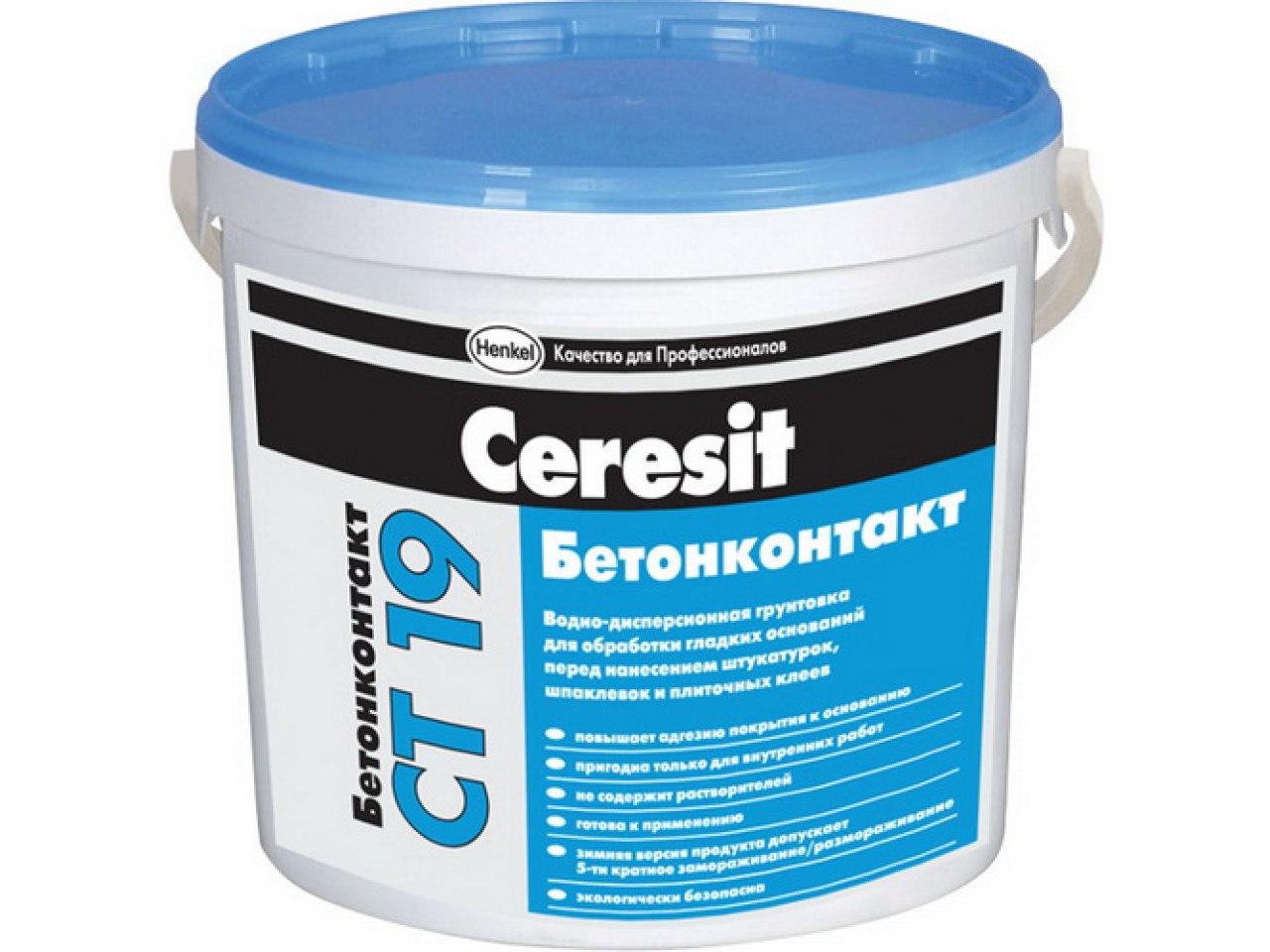 Бетоноконтакт Ceresit CT 19, ведро 15кг